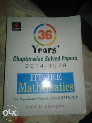 36 Years Chapterwise Solved Papers Book