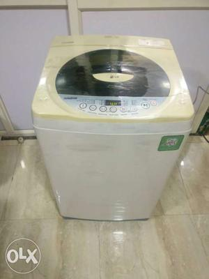 Beige And White Top Load Washing machine with delivery