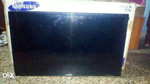 Black Samsung Flat Screen TV With Box