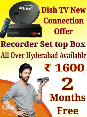 Dishtv new Recorder Settop Connection Offer Only