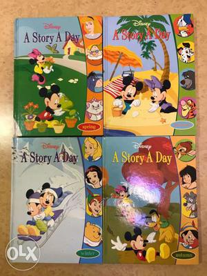 Disney's Grolier Story Books - Set of 4 Books. Almost New.