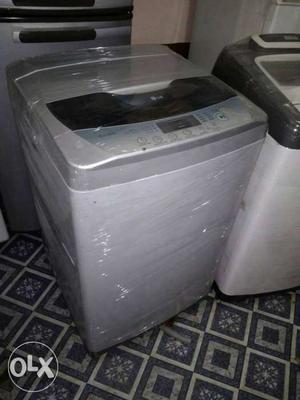 Grey Top Mount Automatic Laundry Machine