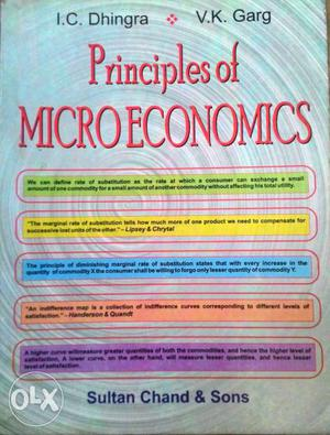 Principles Of Microeconomics By I.C. Dhingra And V.L. Garg