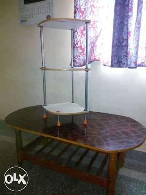 3.5*6 feet teak table and steel rods plywood