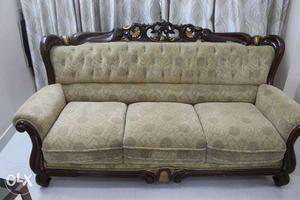 3+2+2 Sofa set with cover. Gently Used.