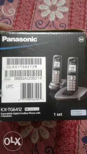 Black Panasonic KX-TG Wireless Phone Box