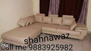New design L shape sofa with good material and
