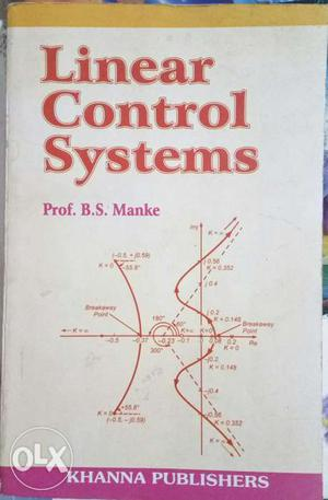 Linear control systems by B.S.Manke