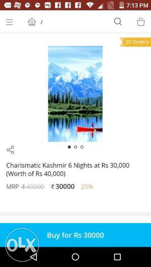 A trip to Kashmir At /-less cost