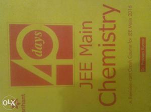 Arihant 40days. Chemistry. for jee main.