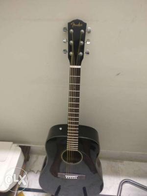 Black Dreadnought Fender Acoustic Guitar
