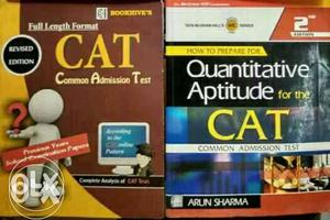 CAT books almost new. U can buy either one also.
