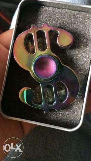 Dollar fidget spinner rainbow colour