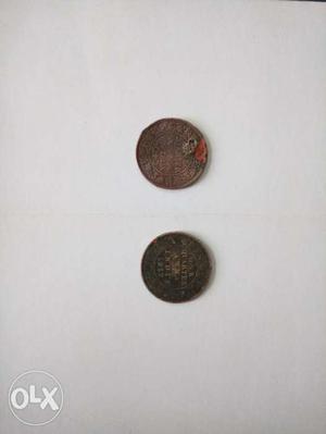 George V King Emperor One Quarter Anna India Coins