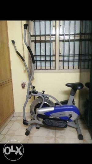 Gray, Black, And Blue Elliptical Trainer