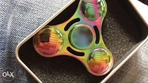 Metal UFO rainbow fidget spinner