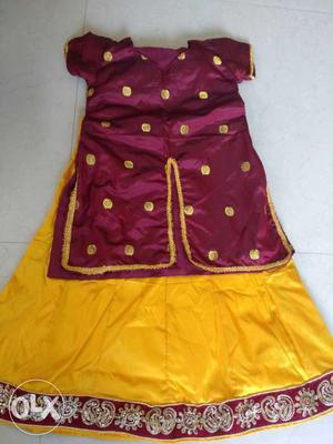 3year children dress home made dress.not use