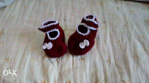 Crochet baby bootie, sizes available 0 - 6 months