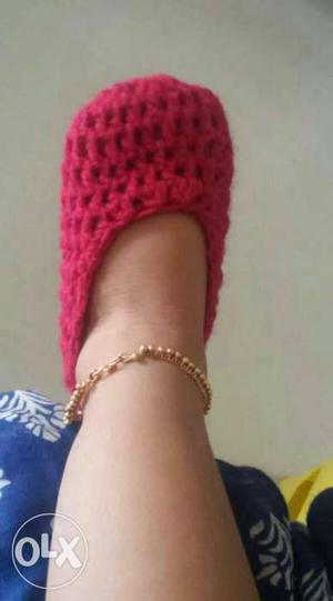 Handmade cotton socks ideal for new born babies