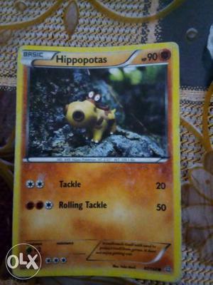 Hippopotas Pokemon Playing Card
