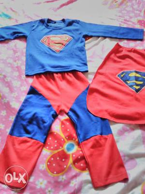 Superman outfit for kids age 3 to 5 years