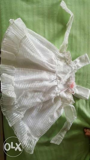 White frock for 8 month -1 1/2 year old baby girls