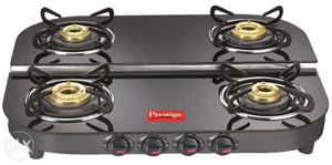Black Prestige 4-burner Gas Cook Top