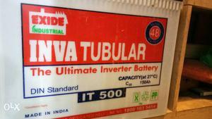 Exide 150 invatubler inverter battery in good