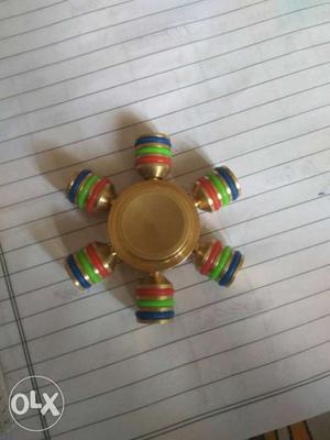 Fidget spinner Brass completely metal... Fine