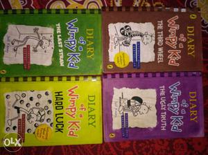 Four Diary Of A Wimpy Kid Book Series