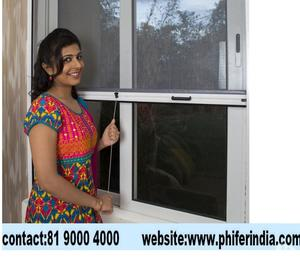 Mosquito net for doors and windows in Stainless steel, Alumi