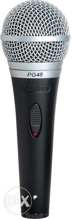 Shure PG48-XLR Cardioid Dynamic Vocal Microphone