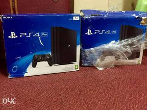 Two Sony PS4 Console And Controller Boxes
