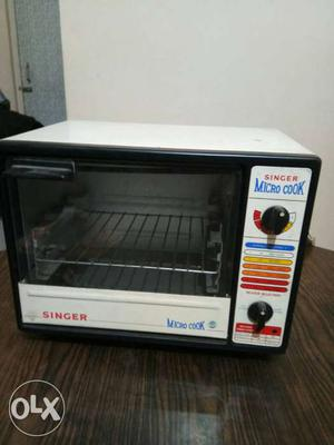 White And Black Singer Micro Cook Toaster Oven