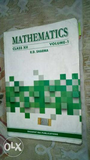 R.d. Sharma Mathematics Class 12 Both part 1 and part 2