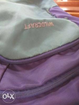 Wildcraft college backpack.
