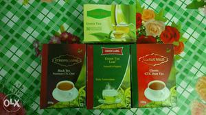 Four Green Tea Boxes