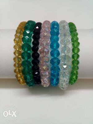 Multicolor crystal elastic bands (Rs 50 per