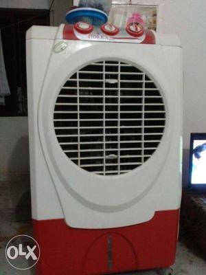 White And Red Rolex Evaporative Air Cooler