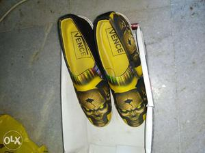 1 time used Shoes for sale {black & yellow}