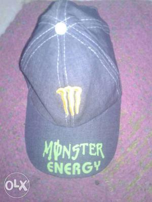 Black Monster Energy Patched Baseball Cap