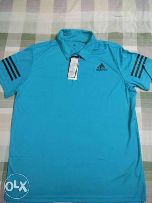 Blue And Black Adidas Polo Shirt. Buy at rs.400 off!! 100%