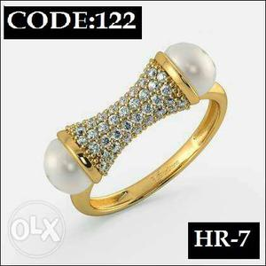 Brand new Designer Gold plated American diamond ring