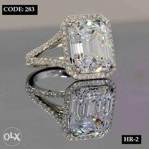Brand new Designer american diamond stone ring