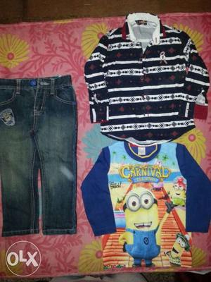 Branded kids wear suitable for 3-4 year old boy.