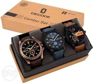 Decode Combo of 3 Exclusive watches