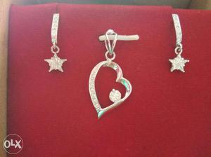 Diamond Pendent Earing set