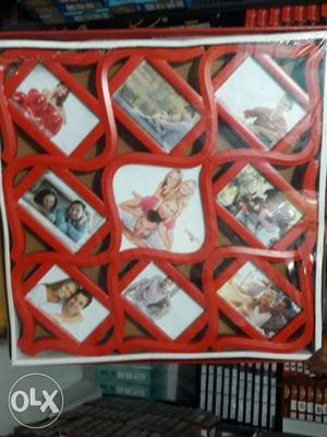 Red And White Photo Frame