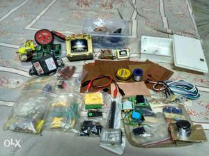 Electronics components,Transformer and Robotic kit.