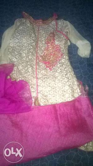 3 piece Heavy designer suit indo western dresses heavy